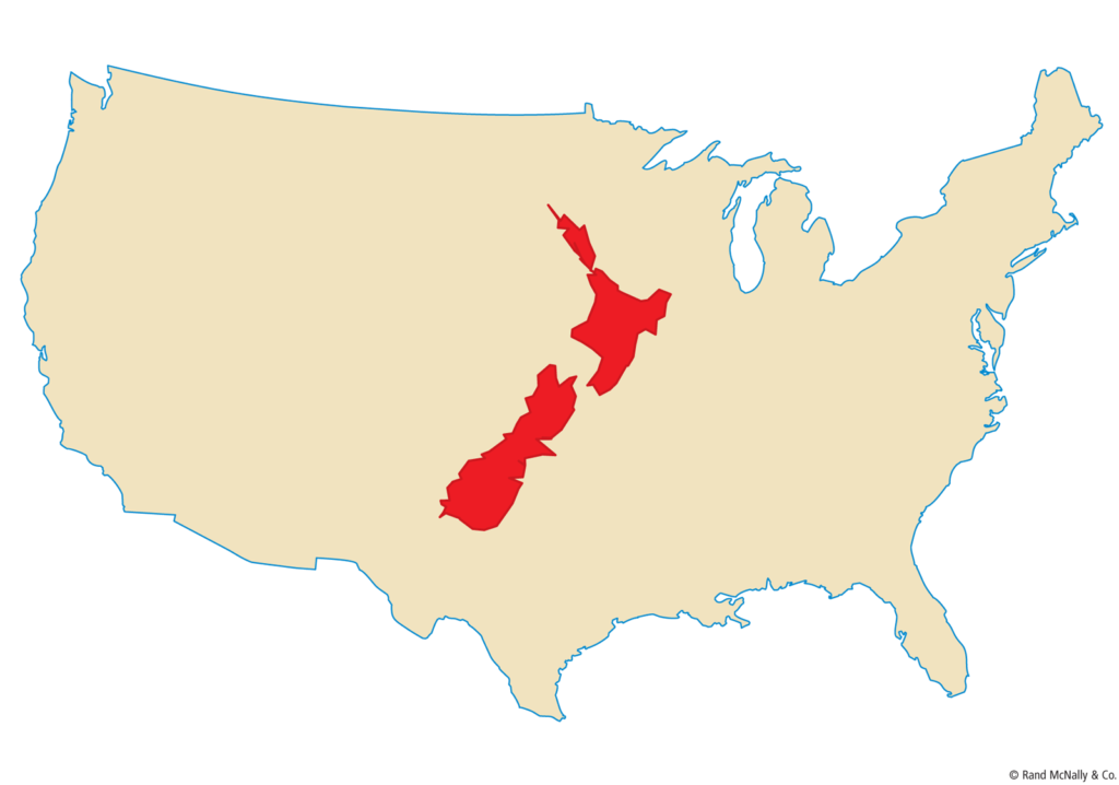 Size of New Zealand
