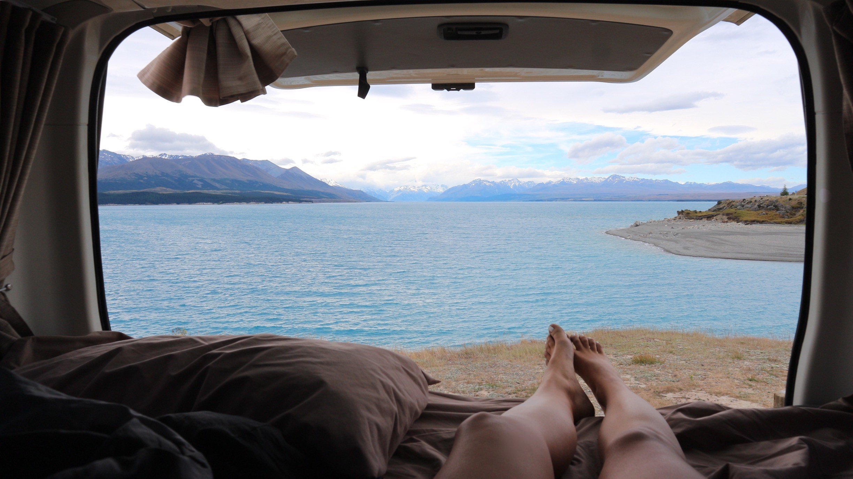 freedom camping in new zealand lake pukaki