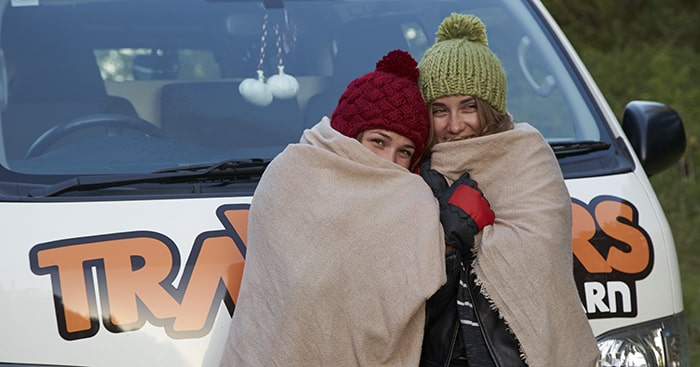 Winter campervan hire New Zealand