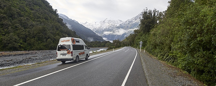 Winter campervan hire New Zealand