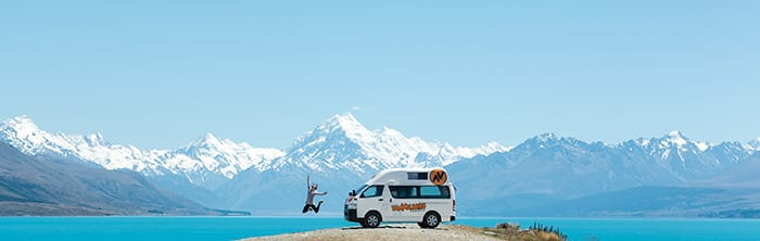 Campervan hire New Zealand Winter