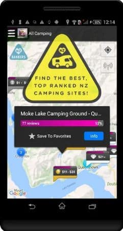 Rankers Camping NZ App