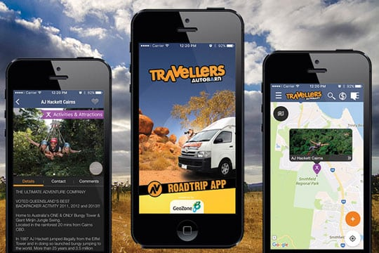 Travellers Autobarn Freedom camping New Zealand apps
