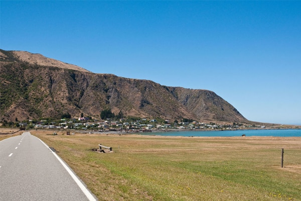 The Ngawi camping area in the South Wairarapa District lies on the coastal side of Cape Palliser Road, opposite to the Ngawi settlement.