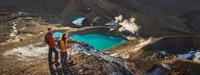 According to Māori legend, Tongariro has quite a mythical connection with Taranaki, as the two figures 'battled' for the attention and affections of the beautiful Pihana, another volcanic mountain peak in the region. Formidable as he was, Tongariro won that one.