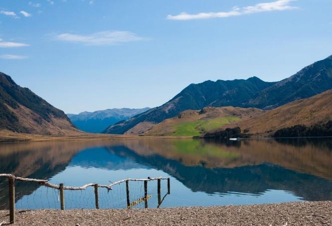 lake view at campsite