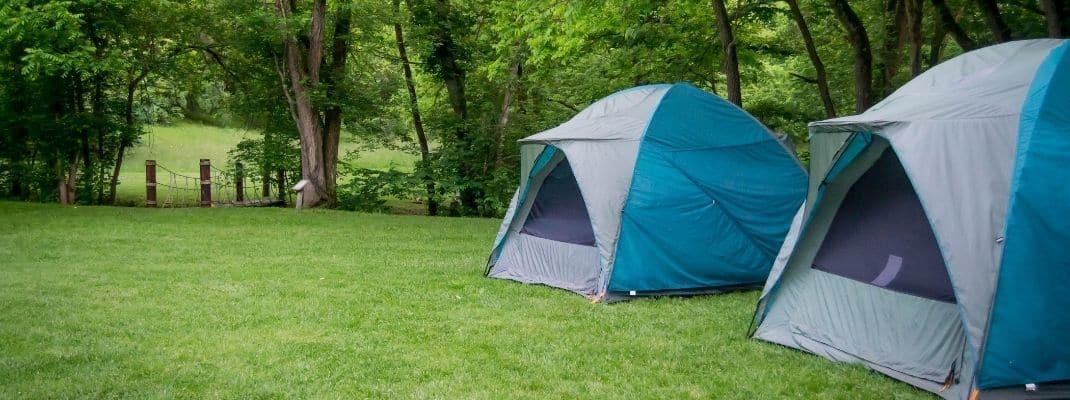 tents on grassy field
