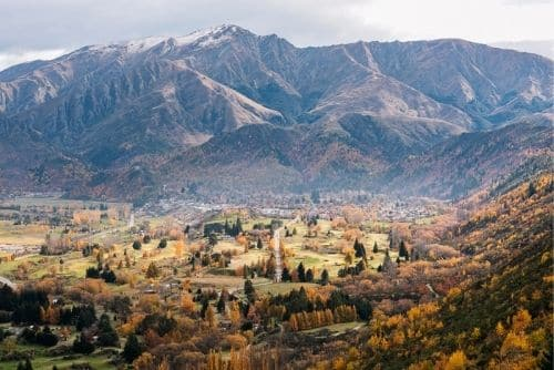aerial photo of arrowtown